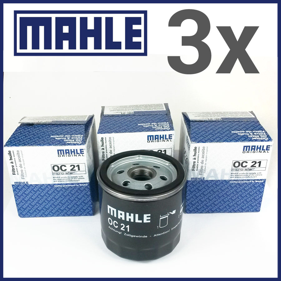 3x Mahle Oil Filter Oc 21 Harley Davidson Fxstsb 1340 Bad